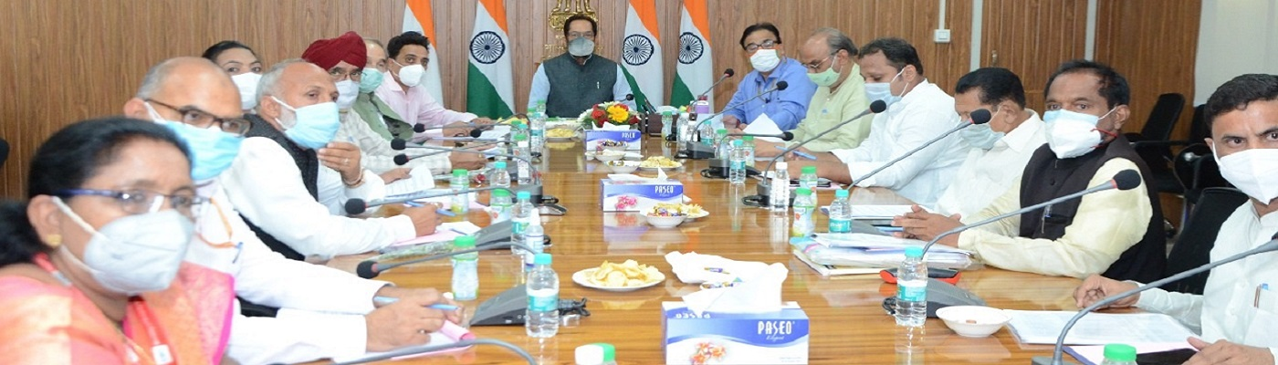 The Union Minister for Minority Affairs, Shri Mukhtar Abbas Naqvi chairing the Governing Body and General Body Meeting of Maulana Azad Education Foundation, in New Delhi on July 08, 2021.